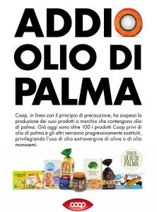 Addio olio di palma Coop