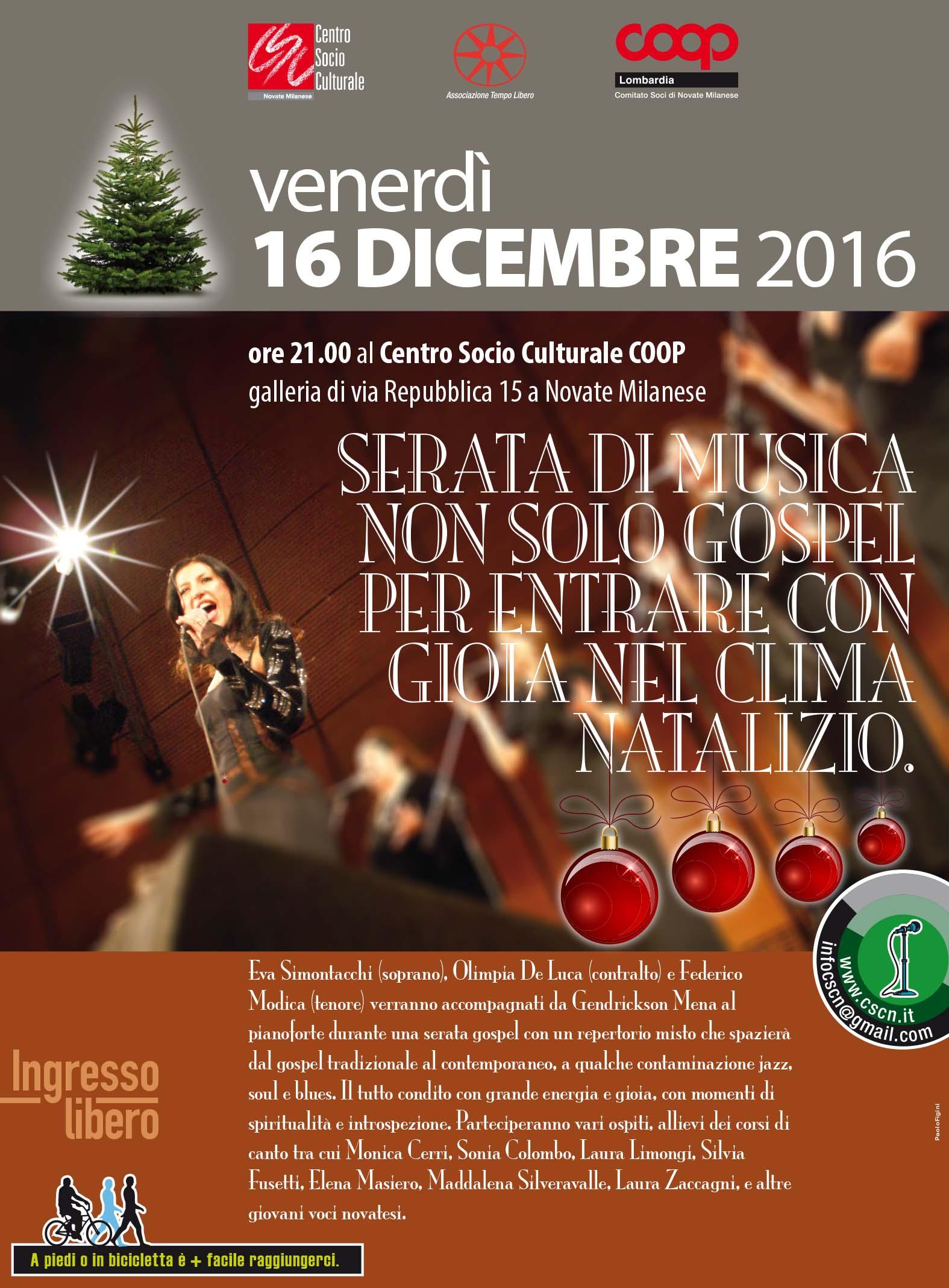 Scuola Di Musica Novate Milanese.Serata Di Musica Partecipa Coop