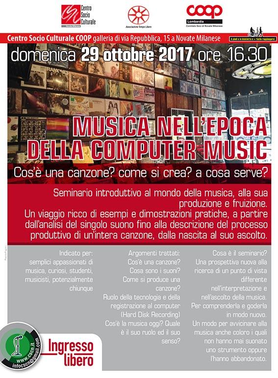 Scuola Di Musica Novate Milanese.Musica Nell Epoca Della Computer Music Partecipa Coop