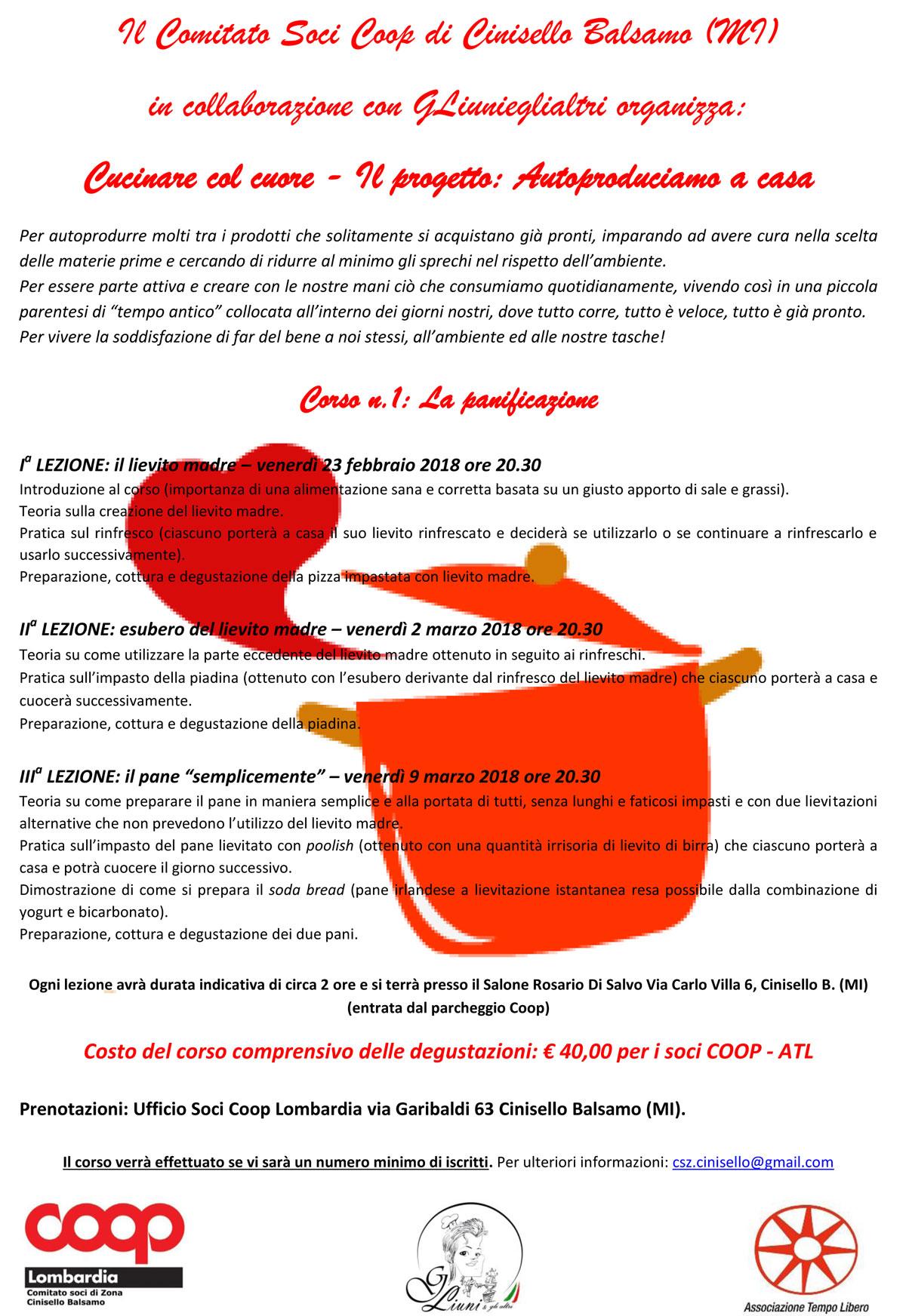 Cucinare col cuore 2018 la panificazione partecipa coop for Cucinare 2018