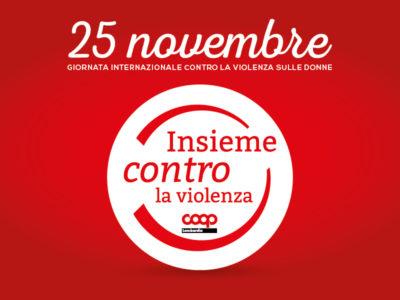 25 novembre 2018: Insieme contro la violenza anche quest'anno