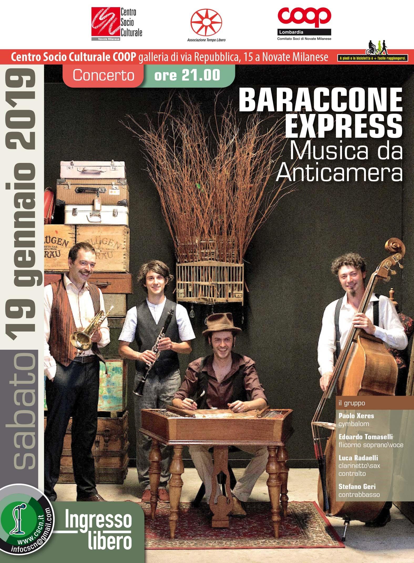 Scuola Di Musica Novate Milanese.Baraccone Express Musica Da Anticamera Partecipa Coop