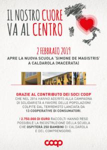 Il nostro cuore va al centro: apre la nuova scuola di Caldarola