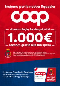 Fai la spesa alla Coop e sostieni il Rugby Parabiago