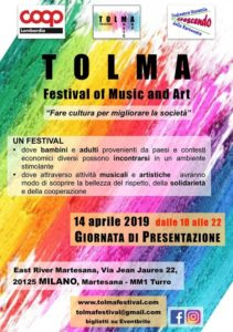 Presentazione del Tolma - Festival of Music and Art