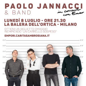 Vai al concerto di Paolo Jannacci con un Carrello Sospeso