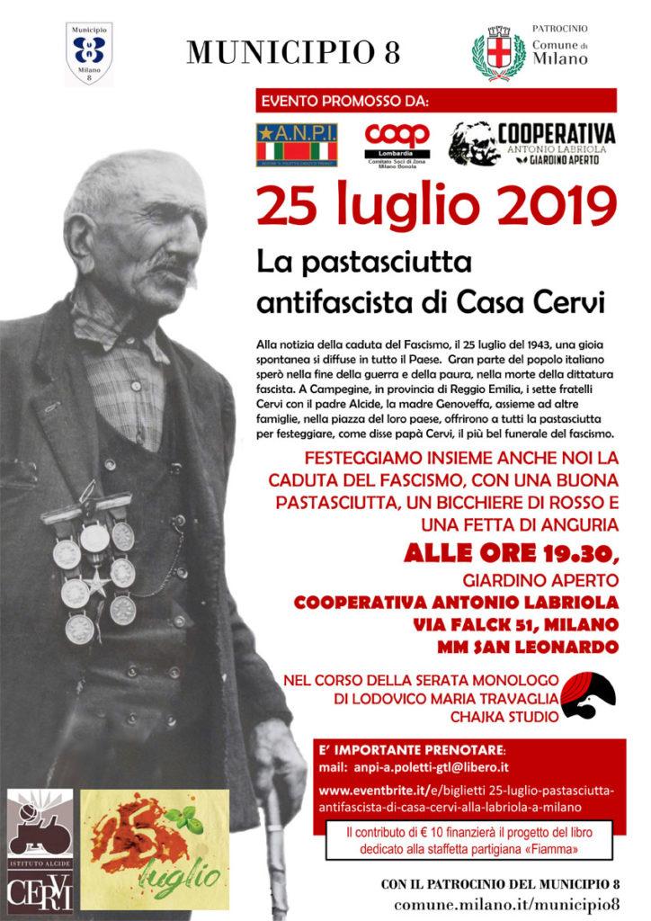 Pastasciutta Antifascista a Milano (Cooperativa Labriola)