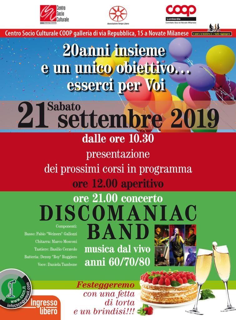 Presentazione dei prossimi corsi in programma e concerto Discomaniac Band