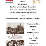 Presentazione del libro Milano e la Grande Guerra