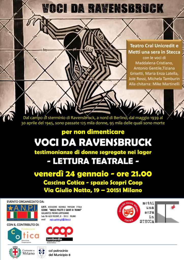 Giornata della memoria 2020 Lettura teatrale Voci da Ravensbruck