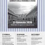 Giornata della memoria 2020 gli eventi a Crema