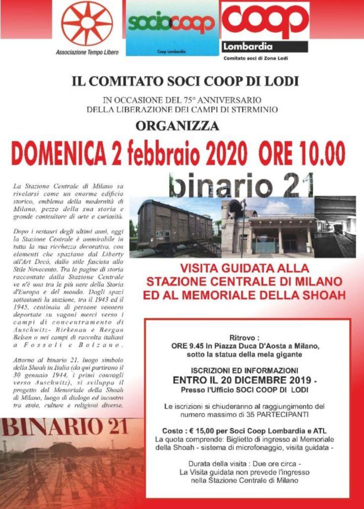Giornata della memoria 2020: visita guidata al Binario 21
