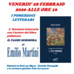 """I pomeriggi letterari: incontro con Emilio Martini autore de """"Il paese mormora"""""""