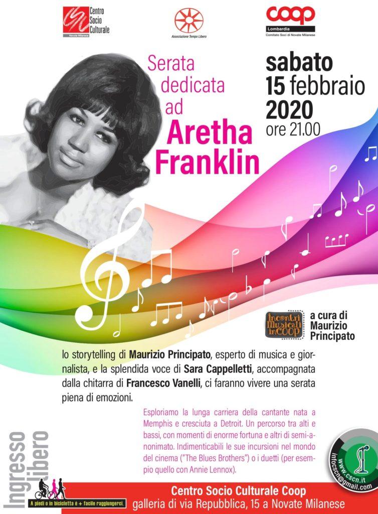 Serata dedicata ad Aretha Franklin a cura di Maurizio Principato