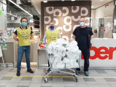 Donazione di mascherine a Crema e a Busto Arsizio