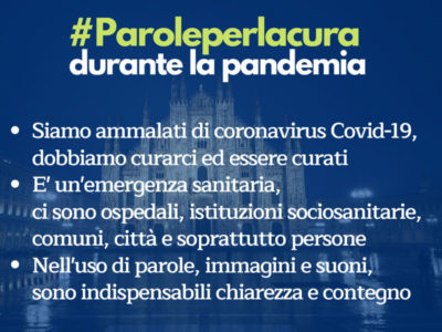 #Paroleperlacura durante l'emergenza COVID-19