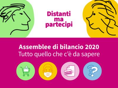Assemblee di Bilancio 2020 distanti, ma partecipi