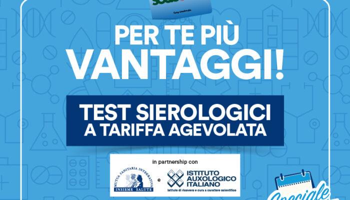 Speciale salute test sierologici per i Soci Coop Lombardia