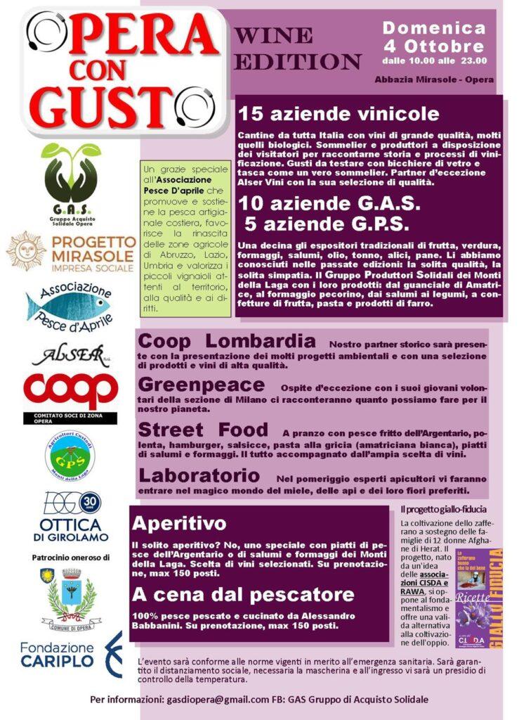 Opera con gusto - Wine edition