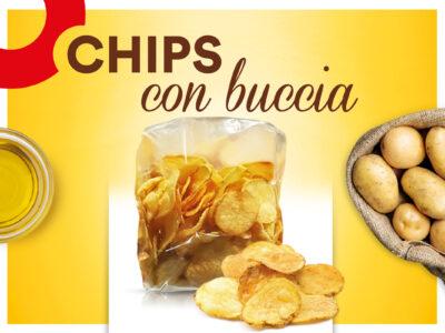 Chips con buccia sfoglie dorate dal gusto senza pari