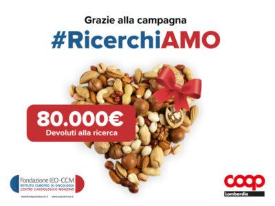 #RicerchiAMO: 80mila euro raccolti per la ricerca medico scientifica